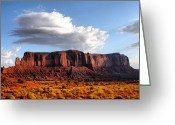 Featured Greeting Cards - Monument Valley Greeting Card by Luisa Azzolini