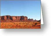 Pano Greeting Cards - Monument Valley pano Greeting Card by Jane Rix