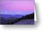 Moon Set Greeting Cards - Moon Set Greeting Card by Leland Howard