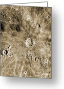 Moon Surface Greeting Cards - Moon Surface Greeting Card by Omikron