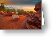 Garden Of The Gods Greeting Cards - Morning Light Greeting Card by Tim Reaves