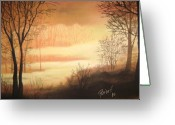 Lanscape Pastels Greeting Cards - Morning2 Greeting Card by Meliha Bisic