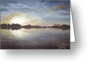 Lanscape Pastels Greeting Cards - Morning3 Greeting Card by Meliha Bisic