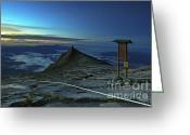 Sabah Greeting Cards - Mount Kinabalu Greeting Card by MotHaiBaPhoto Prints