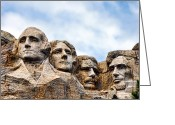 National Greeting Cards - Mount Rushmore Greeting Card by Olivier Le Queinec