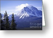 Snowy Greeting Cards - Mountain landscape Greeting Card by Elena Elisseeva