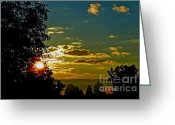 Webster County Greeting Cards - Mountain Sunrise Greeting Card by Thomas R Fletcher