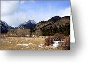 Rocky Mountain Prints Greeting Cards - Mountains Greeting Card by Julie Lueders