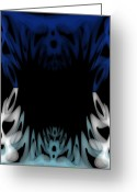 Frighten Greeting Cards - Mouth of the Beast. Greeting Card by Christopher Gaston