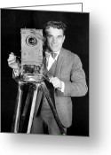 Bowtie Greeting Cards - MOVIE CAMERA, 1920s Greeting Card by Granger