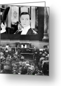 Roaring Twenties Greeting Cards - MOVIE THEATER, 1920s Greeting Card by Granger