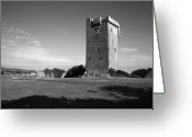 Kinvarra Greeting Cards - Muckinish Castle Greeting Card by John Quinn