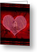 Lovers Embrace Greeting Cards - My Hearts Desire Greeting Card by Kurt Van Wagner
