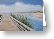 South Carolina Beach Painting Greeting Cards - Myrtle Beach Greeting Card by Clara Sue Beym