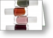 Lacquer Greeting Cards - Nail polish bottles Greeting Card by Elena Elisseeva