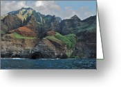 Na Pali Coast Kauai Greeting Cards - Napali Coast Greeting Card by Michael Peychich