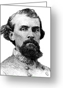 Forrest  Greeting Cards - Nathan Bedford Forrest Greeting Card by War Is Hell Store
