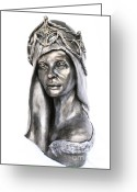 Female Sculpture Greeting Cards - Natural Mystic Greeting Card by Wayne Niemi
