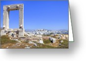 Archaeological Greeting Cards - Naxos - Cyclades - Greece Greeting Card by Joana Kruse