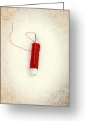 Pointed Greeting Cards - Needle And Thread Greeting Card by Joana Kruse