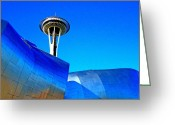 Iconic Architecture Greeting Cards - Needle Piercing Greeting Card by Randall Weidner
