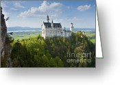 King Ludwig Greeting Cards - Neuschwanstein Castle Greeting Card by Andrew  Michael