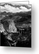 Merced County Greeting Cards - Nevada and Vernal Falls Yosemite National Park Greeting Card by Troy Montemayor