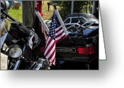 Harley Davidson Rally Greeting Cards - Never Forgotten Greeting Card by David Lee Thompson