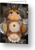 Sultan Greeting Cards - New Mosque Ceiling Greeting Card by Artur Bogacki