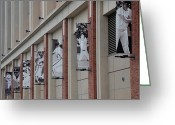 New York Baseball Parks Greeting Cards - NEW YORK METS of OLD Greeting Card by Rob Hans