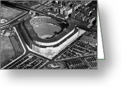 Brooklyn Dodgers Stadium Greeting Cards - New York: Yankee Stadium Greeting Card by Granger