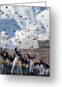 Cheering Greeting Cards - Newly Commissioned U.s. Naval Officers Greeting Card by Stocktrek Images
