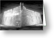Ghostly Greeting Cards - Night at the Castillo Greeting Card by David Lee Thompson
