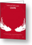 Motion Picture Greeting Cards - No050 My legion minimal movie poster Greeting Card by Chungkong Art