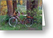 Old Bike Greeting Cards - Nostalgia Greeting Card by Leland Howard
