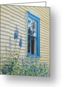 Clapboard Houses Greeting Cards - Noteworthy Greeting Card by Karen Richardson