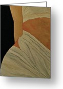 Nude Study Greeting Cards - Nude in Spa Greeting Card by Dorota Nowak