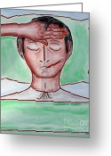 Expressive Drawings Greeting Cards - Nurse Greeting Card by Patrick J Murphy