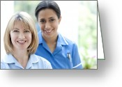 45-49 Years Greeting Cards - Nurses Smiling Greeting Card by