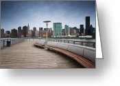 Manhattan Greeting Cards - NYC Brooklyn Quai Greeting Card by Nina Papiorek