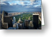 Manhattan Greeting Cards - NYC Central Park Greeting Card by Nina Papiorek