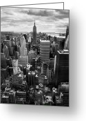 Rockefellar Greeting Cards - NYC Downtown Greeting Card by Nina Papiorek