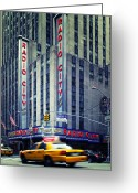 Building Greeting Cards - NYC Radio City Music Hall Greeting Card by Nina Papiorek