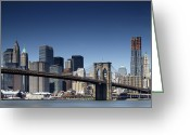 Manhattan Greeting Cards - NYC Skyline Greeting Card by Nina Papiorek