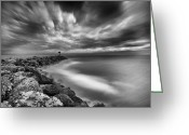 Jetty Greeting Cards - Oceanside Harbor Jetty 3 Greeting Card by Larry Marshall