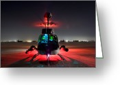 Armament Greeting Cards - Oh-58d Kiowa Pilots Run Greeting Card by Terry Moore