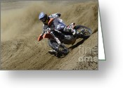 Motorcycle Racing Greeting Cards - Oh What A Feeling Greeting Card by Bob Christopher