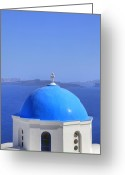 Faith Greeting Cards - Oia - Santorini Greeting Card by Joana Kruse
