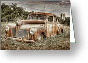 Rust Greeting Cards - Old DeSoto - Color Greeting Card by Scott Norris