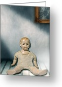 Bizarre Greeting Cards - Old Doll Greeting Card by Joana Kruse
